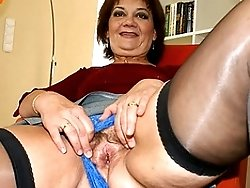 Mama enjoys her toys when she is horny
