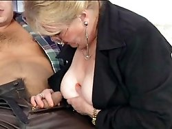 Granny taking guy`s cock deep
