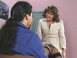 hot office Mature loves a young stud