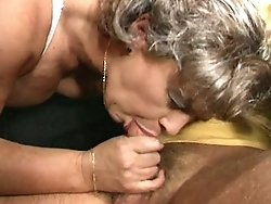 Silver haired granny gets a good pounding