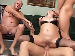 Big fatty old bitch fucking hard and gets facial