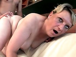 A chunky granny gets pounded hard by her young lover