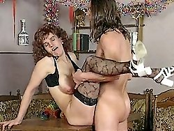 MILF is cockstuffed and bent over the kitchen chair