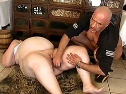 Aged brunette bbw pleased by a horny fucker