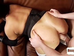 Nasty boy makes himself enjoy ripe babe's hole